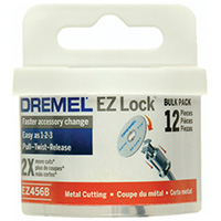 "Dremel EZ Lock 1-1/2"" Cut-off Wheels - 12 Pack"