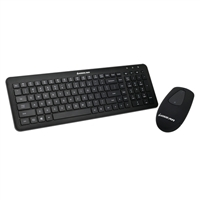 IOGear Tacturus RF Desktop Wireless Keyboard and Touch Mouse Combo - Black