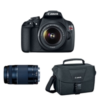 Canon Eos Rebel T5 Dslr Camera with 18-55 II and 75-300 F/4-5.6 III Lens Bundle Kit
