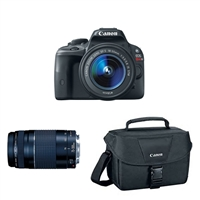 Canon EOS Rebel SL1 18.0 MP DSLR Camera Kit with 18-55mm STM and 75-300mm Lenses