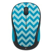 Logitech M325c Wireless Optical Mouse - Teal Chevron