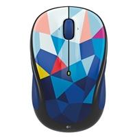 Logitech M325c Wireless Optical Mouse - Blue Facets