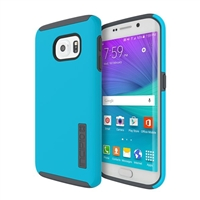 Incipio Technologies DualPro Case for Samsung Galaxy S6 Edge - Neon Blue/Charcoal