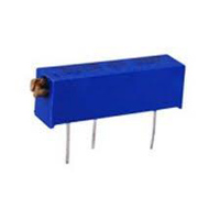 NTE Electronics Trimmer 5KOhm Multiturn Cermet 3/4in Rectangular Sealed 22 Turn 10% Tolerance 3/4 Watt