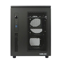 Case Labs Mercury S5 Enthusiast Grade Aluminum mATX/mini-ITX Cube Case v100 - Black (Unassembled)
