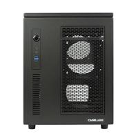 Case Labs Mercury S5 Enthusiast Grade Aluminum mATX/mini-ITX Cube Case v100 - Black (Unassembled)