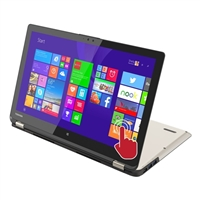 "Toshiba Satellite Radius 15.6"" 2-in-1 Laptop Computer Refurbished - Brushed Aluminum in Satin Gold"
