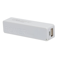 Inland 2,600mAh Power Bank Battery Charger for Mobile Devices - White