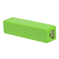 Inland 2,600mAh Power Bank Battery Charger for Mobile Devices - Green