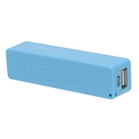 Inland 2,600mAh Power Bank Battery Charger for Mobile Devices - Blue