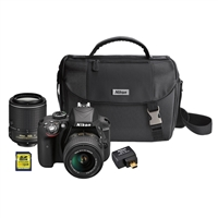 Nikon D3300 DSLR with 18-55mm DX VR II and 55-200mm DX VR II Zoom Lenses