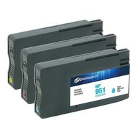 Dataproducts Remanufactured HP 951 Color Ink Cartridge 3-Pack