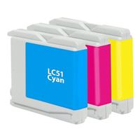 Dataproducts Remanufactured Brother LC-51CMY Ink Cartridge 3-Pack