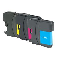 Dataproducts Remanufactured Brother LC65 Color Ink Cartridge 3-Pack