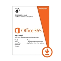 Microsoft Office 365 Personal Renewal Key - 1 Year (PC/Mac)