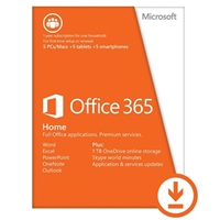 Microsoft Office 365 Home Edition Renewal Key - 1 Year (PC/Mac)
