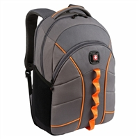 "Swiss Gear Sun Laptop Backpack Fits Screens up to 16""- Gray/Orange"