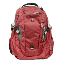 "Swiss Gear Commute Laptop Backpack Fits Screens up to 16"" - Red/Gray"