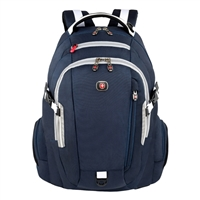 "Swiss Gear Commute Wheeled Notebook Backpack Fits Up to 16"" Laptop - Blue/Grey"
