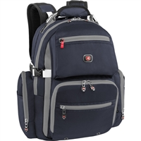 "Swiss Gear Breaker Deluxe Laptop Backpack Fits up to 16"" - Navy/Gray"