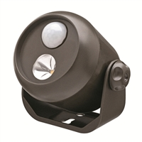 Mr. Beams Wireless LED Mini Spotlight with Motion Sensor and Photocell Brown