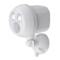 Mr. Beams MB380 Weatherproof Wireless Battery Powered LED Ultra Bright 300 Lumen Spotlight with Motion Sensor White
