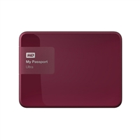 "WD My Passport Ultra 2TB 5,400 RPM USB 3.0 2.5"" Secure External Portable Hard Drive - Berry"