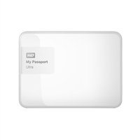 WD My Passport Ultra 2TB 5,400 RPM 3.5 inch Secure External Portable Hard Drive - White