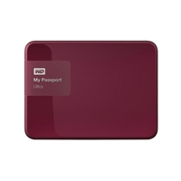 "WD My Passport Ultra 1TB 5,400 RPM USB 3.0 2.5"" Secure External Portable Hard Drive - Berry"