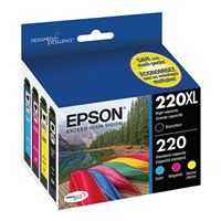 Epson T220XL-BCS High Capacity Black and Color Ink Cartridge Combo Pack