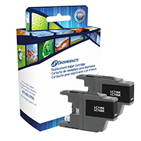 Dataproducts Remanufactured Brother LC75 Black Ink Cartridge Twin Pack