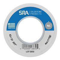 SRA Soldering Products No-Clean Flux Core Solder Sn63/Pb37 .031-Inch - 4 Ounce Spool
