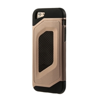 Bytech Case Logic Durable Carbon Fiber Case for iPhone 6 Plus - Gold