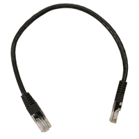Inland 1 ft Cat5e Network Cable 5pk - Black