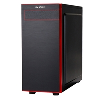Inwin 703 Mid-Tower ATX Windowed Computer Case - Black/Red