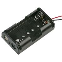 Pro Power Battery Holder 2xaa Snap 150mm Lead