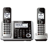 Panasonic Link2Cell Bluetooth Cordless Phone and Answering Machine - 2 Handsets KX-TGF372S
