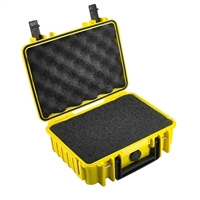 B&W International Type 1000 Outdoor Case with SI Foam - Yellow
