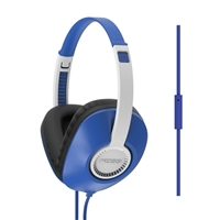 Koss UR23iB Full Size Over Ear Headphones w/ Microphone - Blue