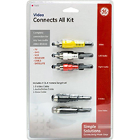 GE 4 ft. Video Connections Cable Kit - Video/Audio/S-Video/Coaxial