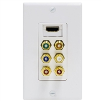 GE HDMI/Component Video/Digital Audio Wall Plate