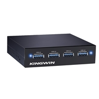 "Kingwin KW35-4U3 Internal 4-Port USB 3.0 hub for 3.5"" bay"