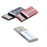 Verbatim 8 GB Clip-it USB flash Drive 3 Pack White, Black, Red