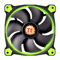 Thermaltake Riing 12 Series Green LED 120mm High Static Pressure Case/Radiator Fan