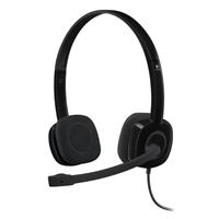 Logitech H151 Stereo Headset - Black
