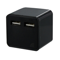 Inland Dual USB Port Wall Charger Black