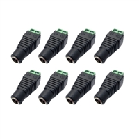 Avue DC Female 2.1 x 5.5mm Power Connector (8 Pack)