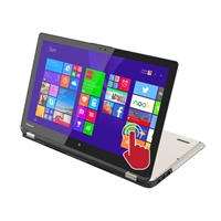 "Toshiba Satellite Radius P55W-B5224 15.6"" 2-in-1 Laptop Computer Refurbished - Brushed Aluminum in Satin Gold"