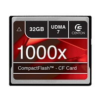 Centon 32GB Compact Flash 1000x Flash Memory Card CF