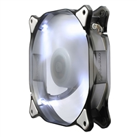 H.E.C. Cougar 12 cm Hydraulic 64 CFM 16 dBA White LED Fan